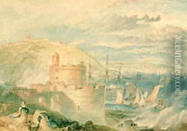 Falmouth Harbour Oil Painting - Joseph Mallord William Turner