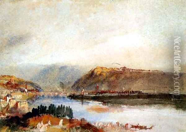 Givet from the North, c.1839 Oil Painting - Joseph Mallord William Turner