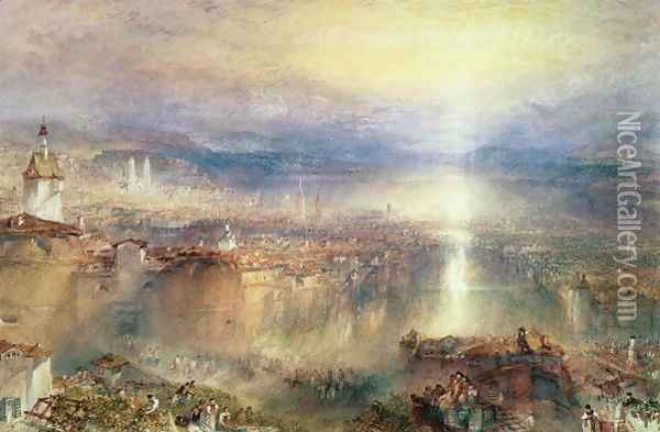 Zurich Oil Painting - Joseph Mallord William Turner