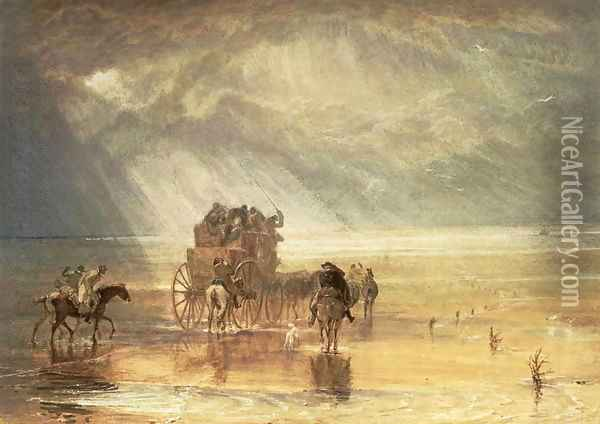 Lancaster Sands 2 Oil Painting - Joseph Mallord William Turner