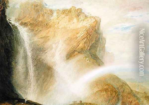 Upper Falls of the Reichenbach Oil Painting - Joseph Mallord William Turner
