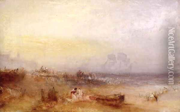 The Morning After the Storm, c.1840-45 Oil Painting - Joseph Mallord William Turner