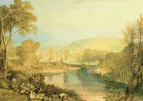 Bolton Abbey Oil Painting - Joseph Mallord William Turner
