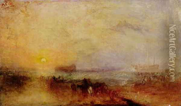 The Morning after the Wreck, c.1835-40 Oil Painting - Joseph Mallord William Turner
