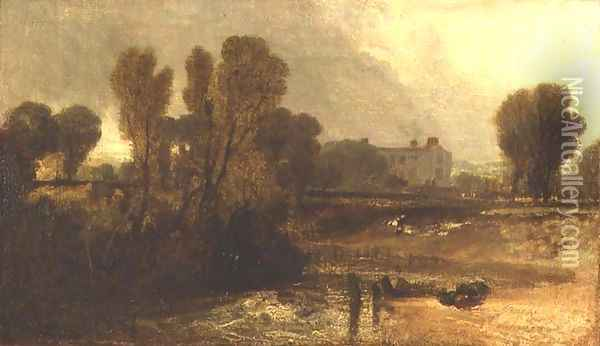 Ladye Place, Hurley-on-Thames Oil Painting - Joseph Mallord William Turner