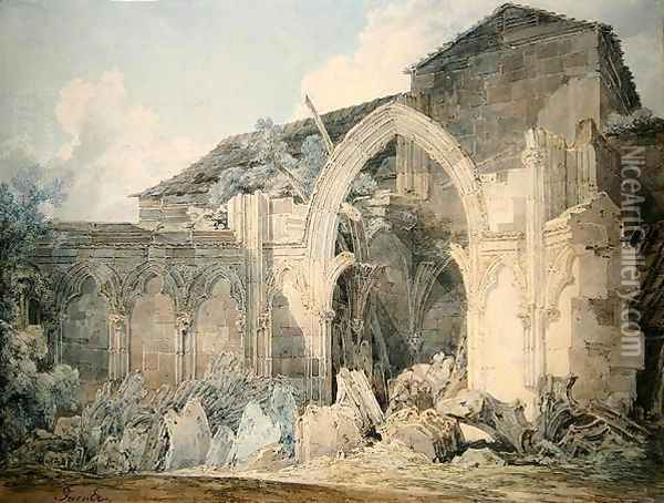 Hereford Cathedral Oil Painting - Joseph Mallord William Turner