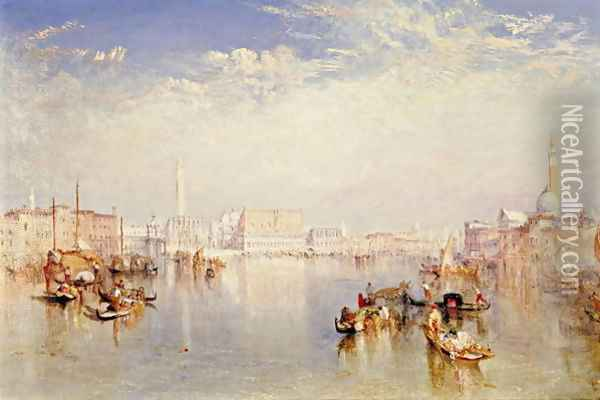 View of Venice: The Ducal Palace, Dogana and Part of San Giorgio, 1841 Oil Painting - Joseph Mallord William Turner