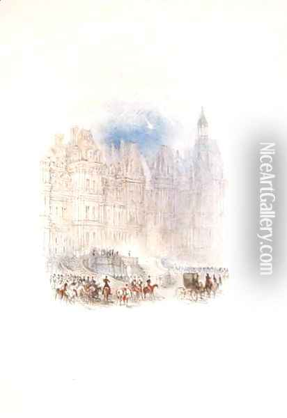 Fontainebleau The Departure of Napoleon, 1833 Oil Painting - Joseph Mallord William Turner