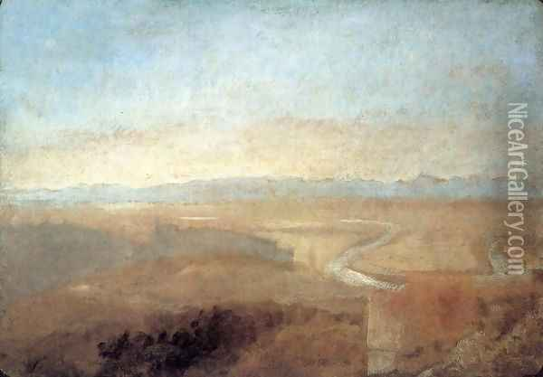 Hill Town on the Edge of the Campagna Oil Painting - Joseph Mallord William Turner