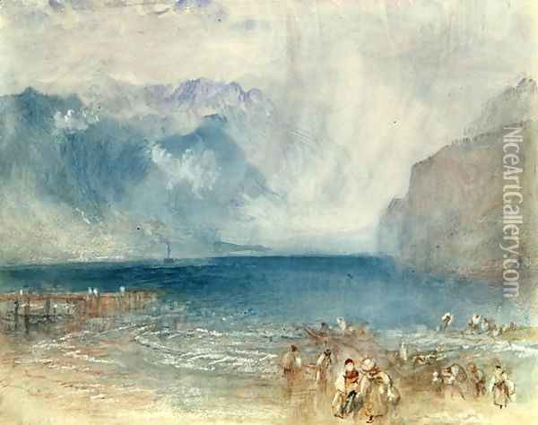 The First Steamer on the Lake of Lucerne in 1841 Oil Painting - Joseph Mallord William Turner