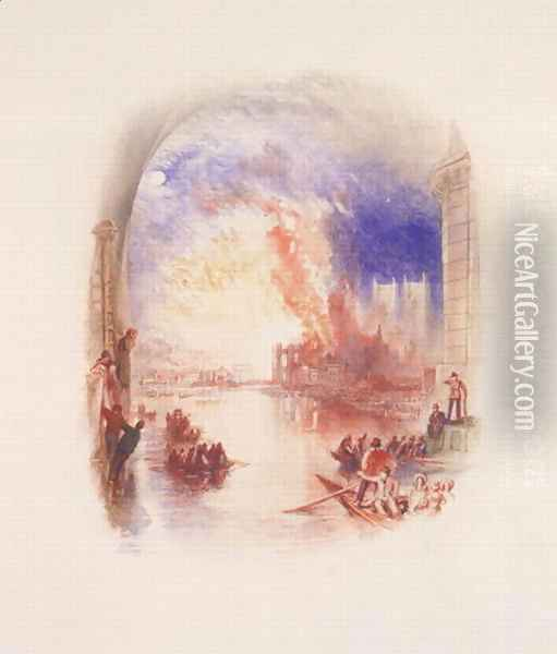 The Burning of the Houses of Parliament 2 Oil Painting - Joseph Mallord William Turner