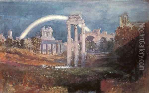 Rome: The Forum with a Rainbow Oil Painting - Joseph Mallord William Turner