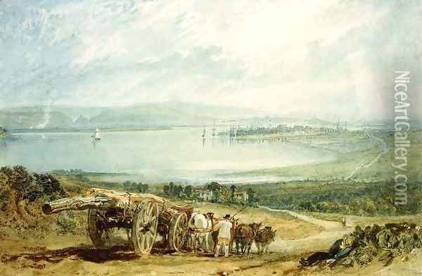 Brussels - Distant View 2 Oil Painting - Joseph Mallord William Turner