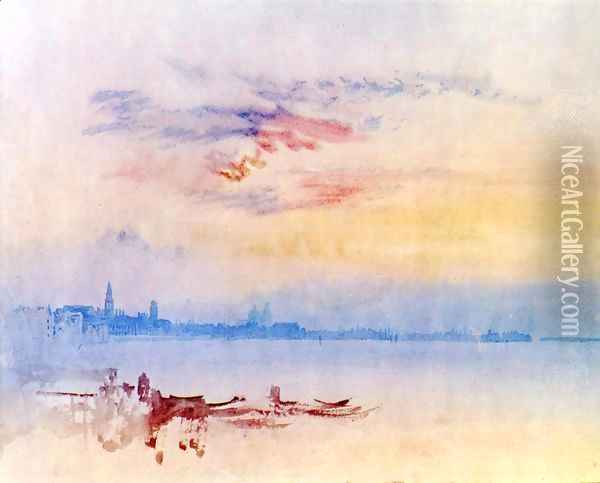 Venice, Looking East from the Guidecca: Sunrise Oil Painting - Joseph Mallord William Turner