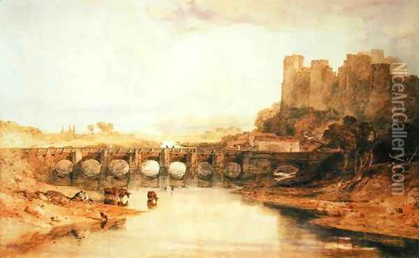 Ludlow Castle Oil Painting - Joseph Mallord William Turner