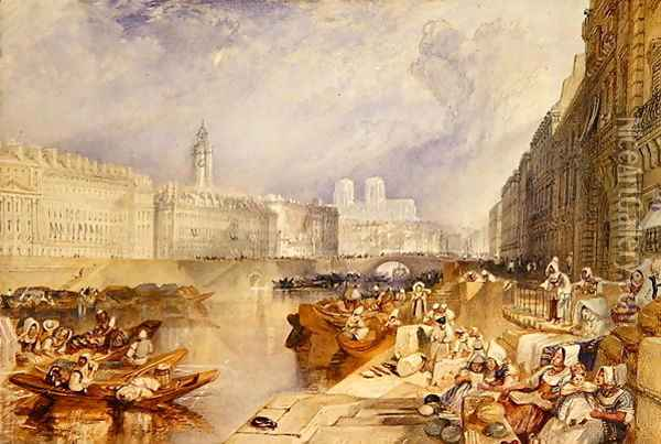 Nantes Oil Painting - Joseph Mallord William Turner