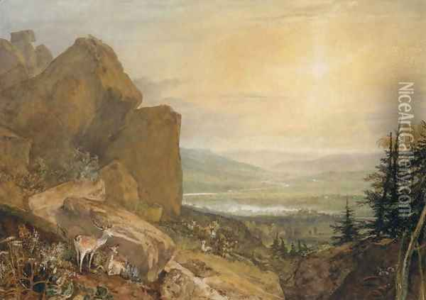Valley of the Wharfe with Otley in the Distance Oil Painting - Joseph Mallord William Turner