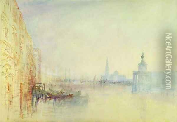 Venice, The Mouth of the Grand Canal, c.1840 Oil Painting - Joseph Mallord William Turner
