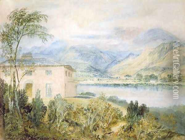 Tent Lodge, by Coniston Water, 1818 Oil Painting - Joseph Mallord William Turner