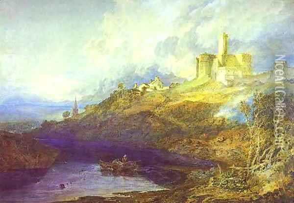 Warkworth Castle, Northumberlan Oil Painting - Joseph Mallord William Turner
