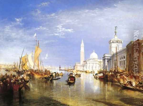 Venice: The Dogana and San Giorgio Maggiore Oil Painting - Joseph Mallord William Turner