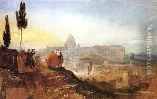 Rome: St. Peter's from the Villa Barberini Oil Painting - Joseph Mallord William Turner