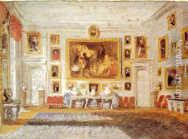 Petworth: the Drawing room Oil Painting - Joseph Mallord William Turner
