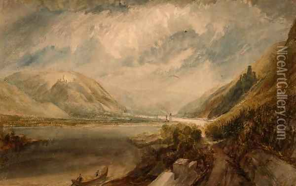 Junction of the Rhine and the Lahn Oil Painting - Joseph Mallord William Turner