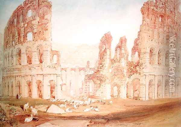 Colosseum Oil Painting - Joseph Mallord William Turner