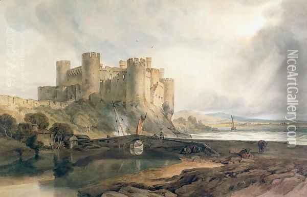 Conway Castle 3 Oil Painting - Joseph Mallord William Turner