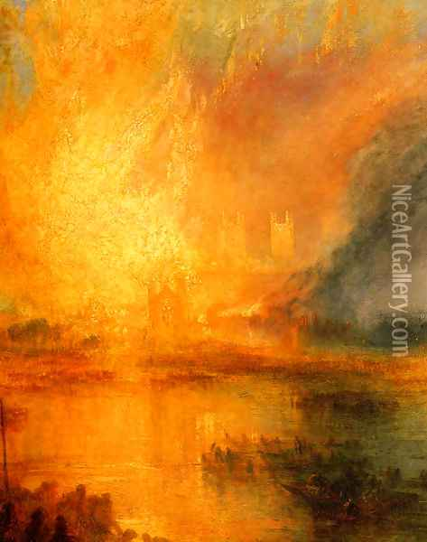 The Burning of the Houses of Parliament [detail: 1] Oil Painting - Joseph Mallord William Turner