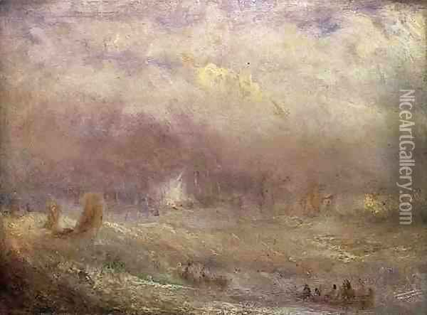 View of Deal Oil Painting - Joseph Mallord William Turner