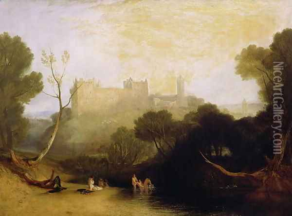 Linlithgow Palace, c.1807 Oil Painting - Joseph Mallord William Turner