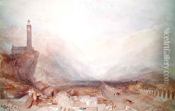 Mountain landscape with church Oil Painting - Joseph Mallord William Turner