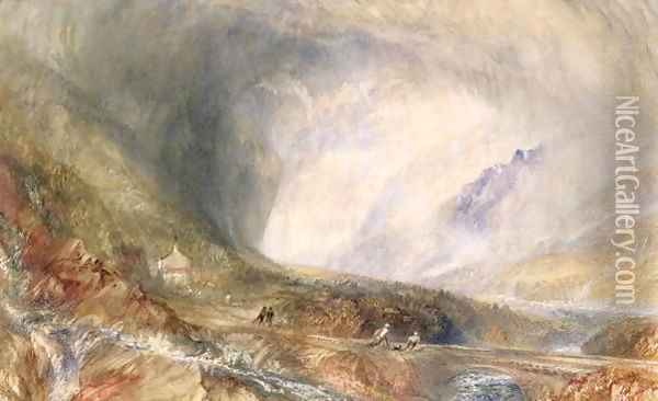 Storm in the Pass of St Gothard Oil Painting - Joseph Mallord William Turner