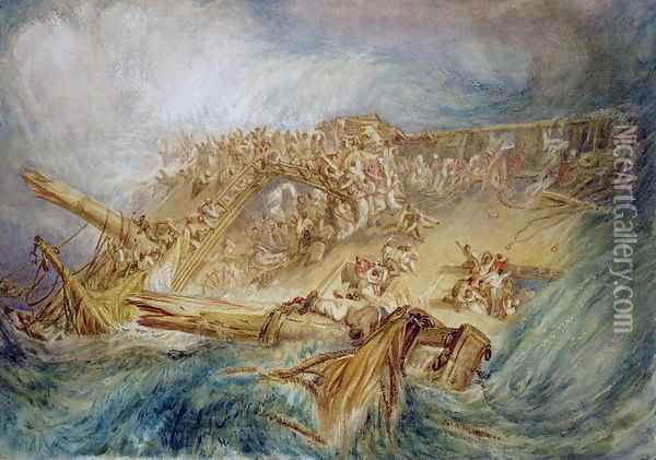 The Loss of an East Indiaman, c.1818 Oil Painting - Joseph Mallord William Turner