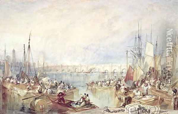 The Port of London Oil Painting - Joseph Mallord William Turner
