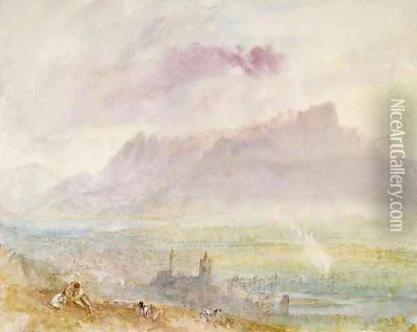 Lake Thun, c.1838 Oil Painting - Joseph Mallord William Turner