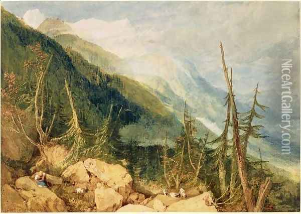 The Valley of Chamonix, 1800 Oil Painting - Joseph Mallord William Turner