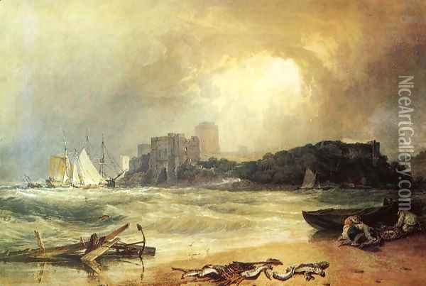 Pembroke Caselt, South Wales: Thunder Storm Approaching Oil Painting - Joseph Mallord William Turner