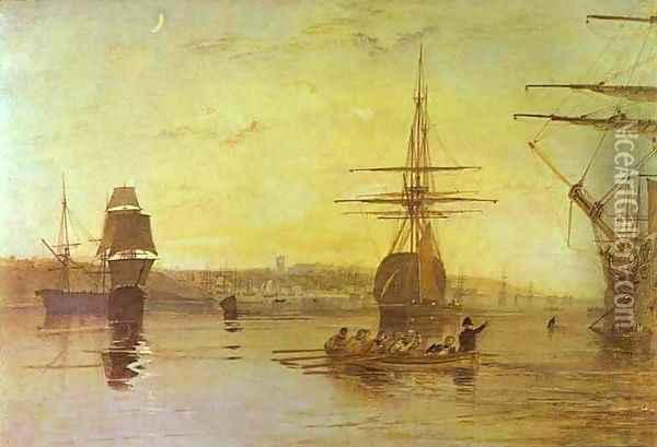 Cowes, Isle of Wight Oil Painting - Joseph Mallord William Turner