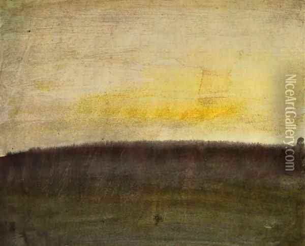 Beginnings with color, pink skies Oil Painting - Joseph Mallord William Turner