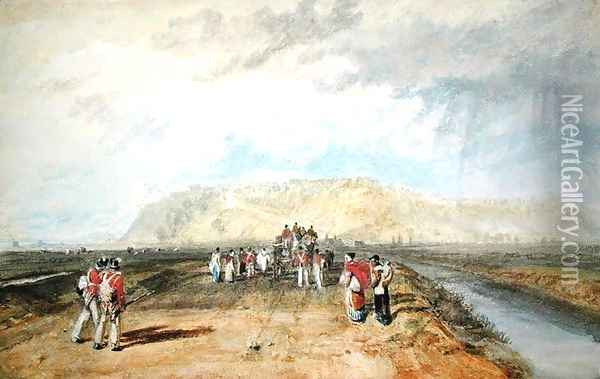 Winchelsea, Sussex, from the Rye Road Oil Painting - Joseph Mallord William Turner
