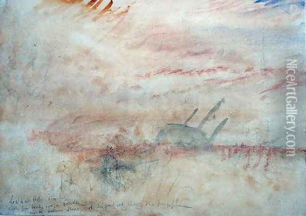 Lost to All Hope The Brig, c.1845-50 Oil Painting - Joseph Mallord William Turner