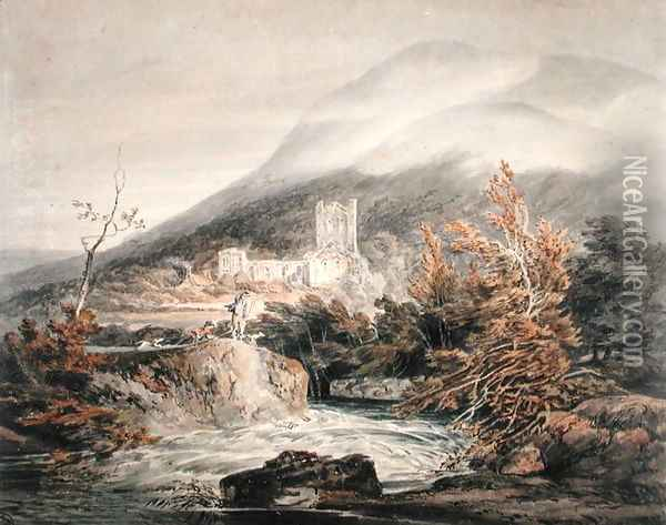 Llanthony Abbey, Monmouthshire, c.1792 Oil Painting - Joseph Mallord William Turner