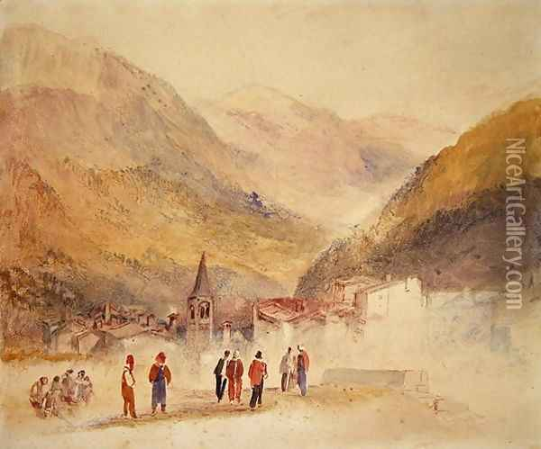 Pre St Didier, 1836 Oil Painting - Joseph Mallord William Turner