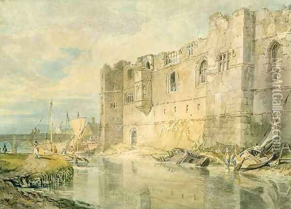 Newark-upon-Trent, c.1796 Oil Painting - Joseph Mallord William Turner