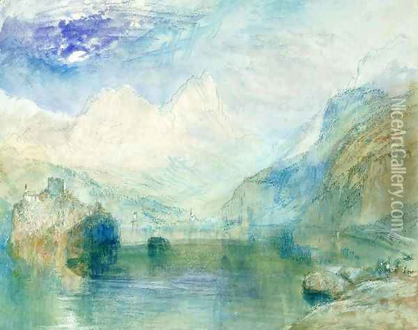 The Lowerzer See Oil Painting - Joseph Mallord William Turner