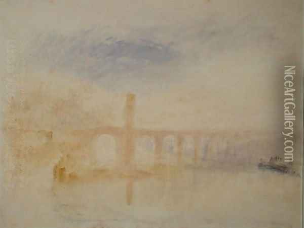 The Moselle Bridge, Coblenz, c.1842 Oil Painting - Joseph Mallord William Turner