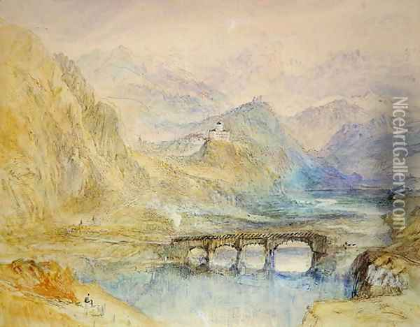 The Domleschg Valley Oil Painting - Joseph Mallord William Turner